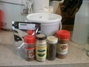 Pumpkin Spices (and malt extract)